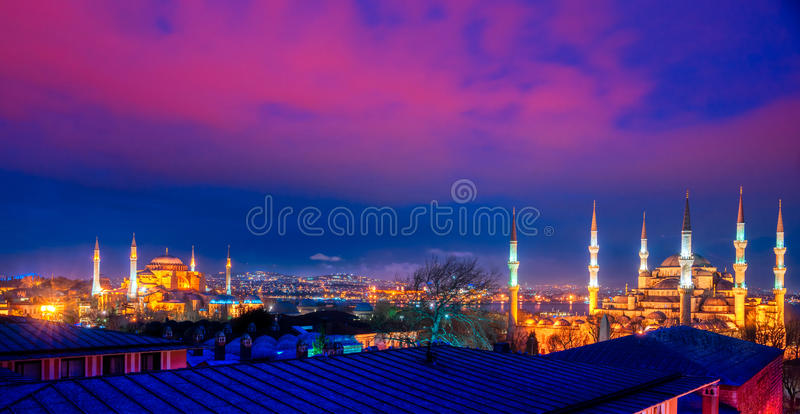 Błękitny meczet, Istanbuł, Turcja. zdjęcia royalty free