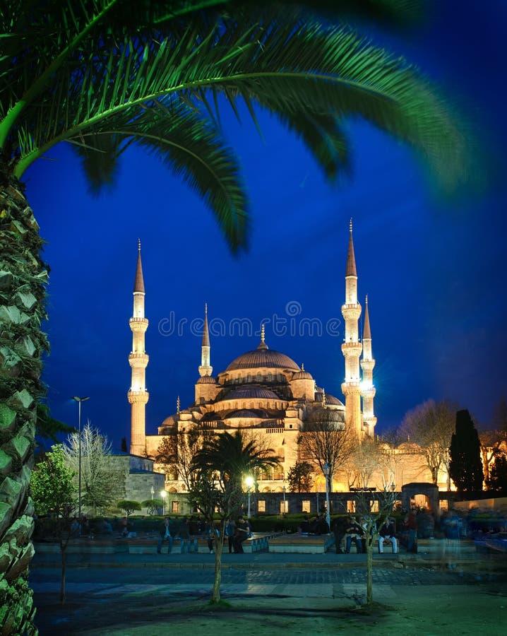 błękitny meczetowa noc obraz stock