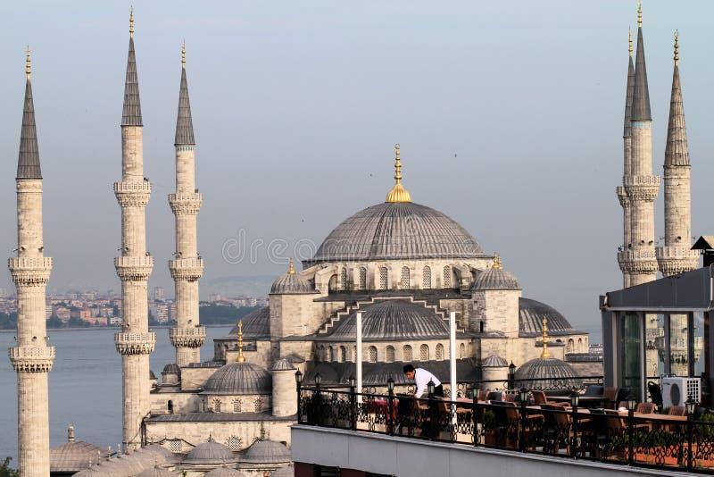 błękitny meczetowa restauracja zdjęcia stock