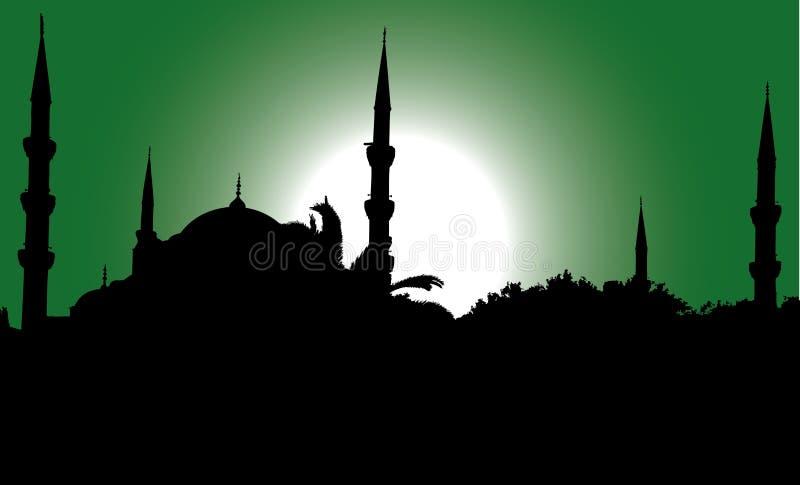błękitny meczetowa sylwetka ilustracji