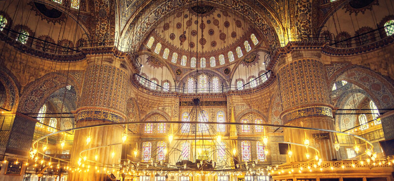 Błękitny Meczetowy sułtan Ahmet Cami zdjęcie royalty free