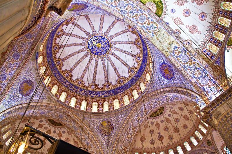 Błękitny Meczetowy Wnętrze zdjęcia stock