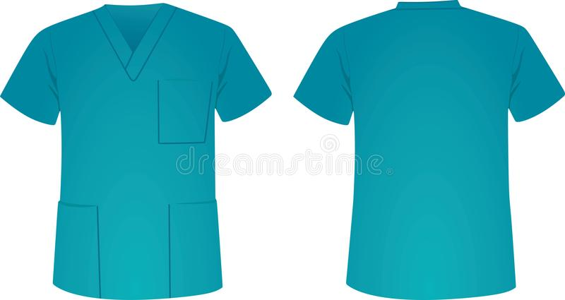 Błękitny medyczny mundur ilustracja wektor