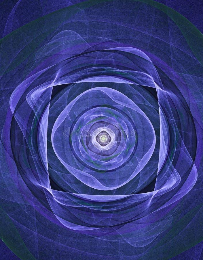 błękitny medytacja ilustracji