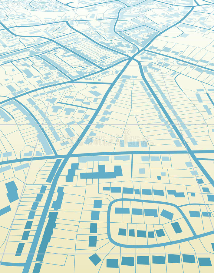 błękitny miasteczko ilustracja wektor