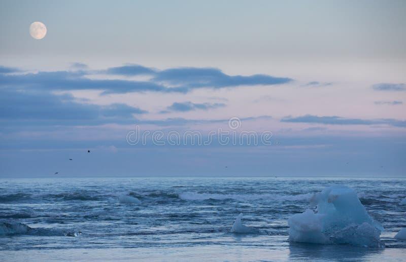 Błękitny morze i góry lodowa obraz royalty free