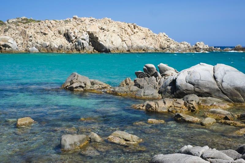 Błękitny morze w Sardinia zdjęcie stock
