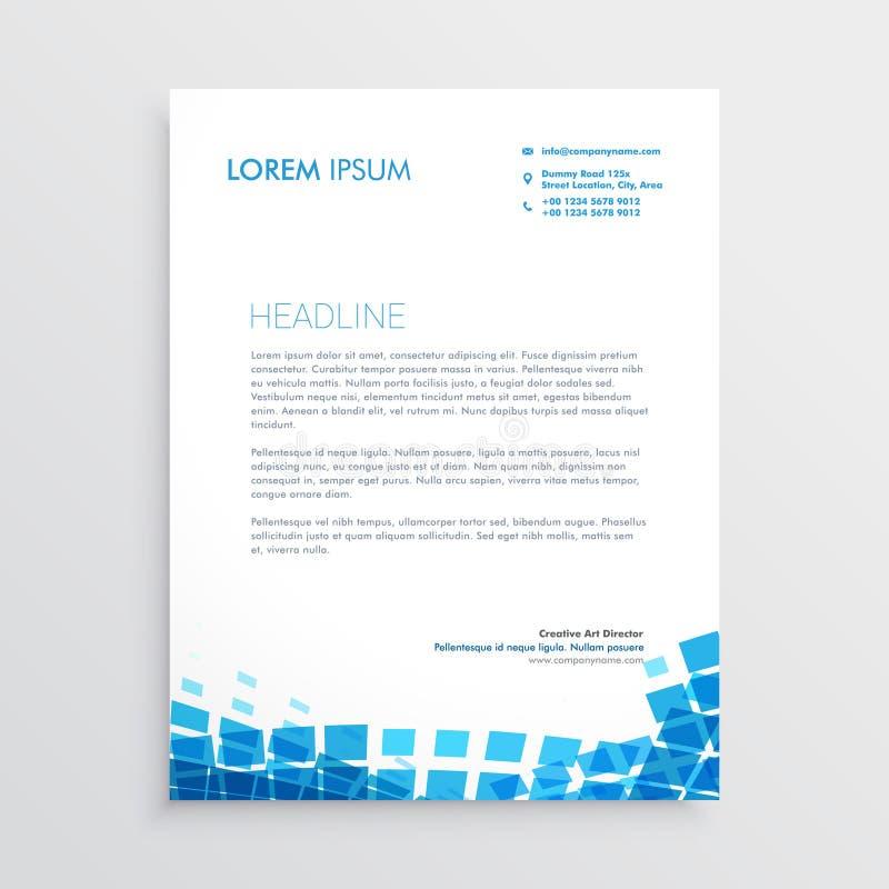 Błękitny mosiac stylu letterhead projekt ilustracji