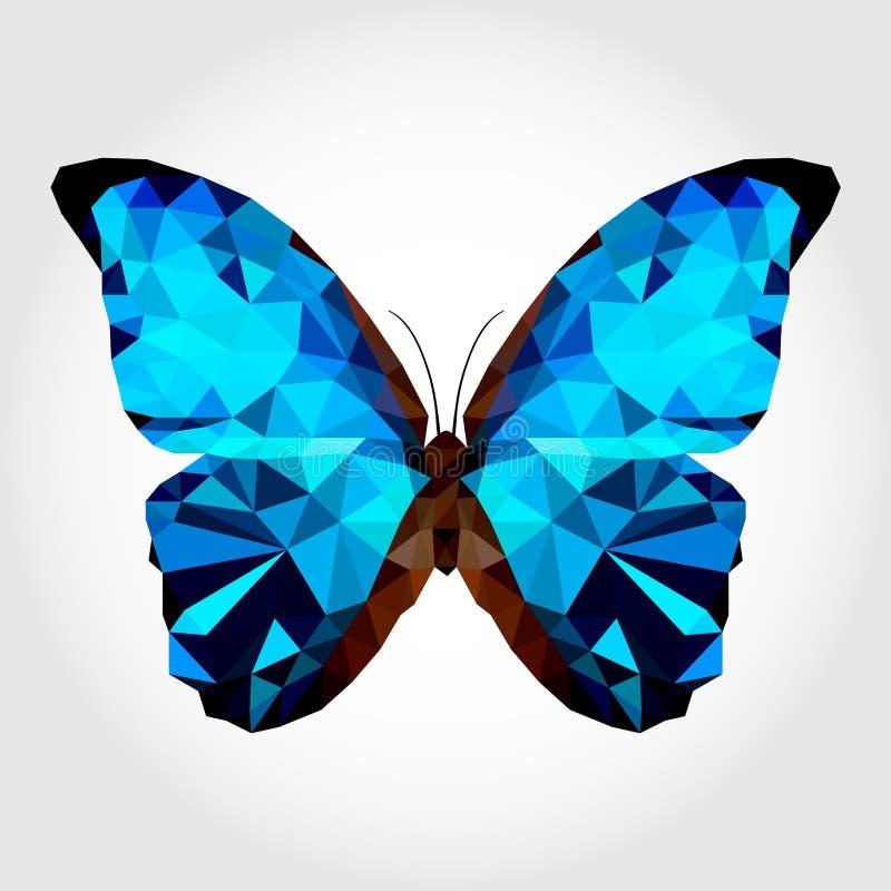 Błękitny motyl na białym blackground zdjęcia stock