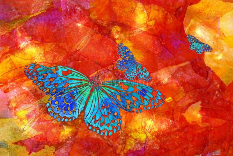 błękitny motyle ilustracja wektor