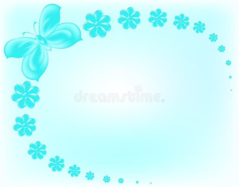 błękitny motyli kwiaty zdjęcie royalty free