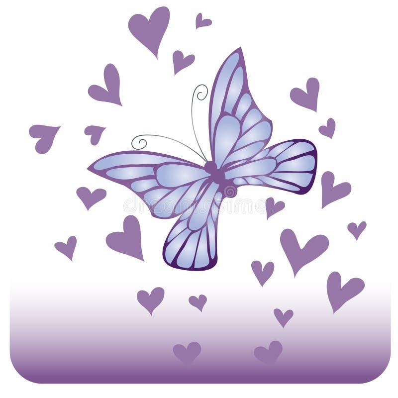 błękitny motyli migotliwy royalty ilustracja
