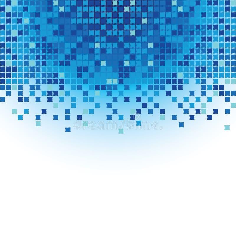 błękitny mozaika royalty ilustracja