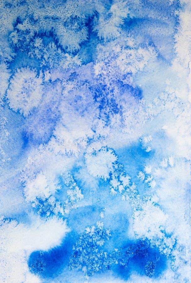 Błękitny mroźny abstrakcjonistyczny tło obrazy royalty free