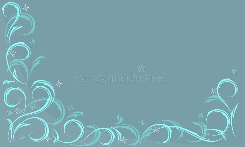 błękitny mroźny wzór ilustracji