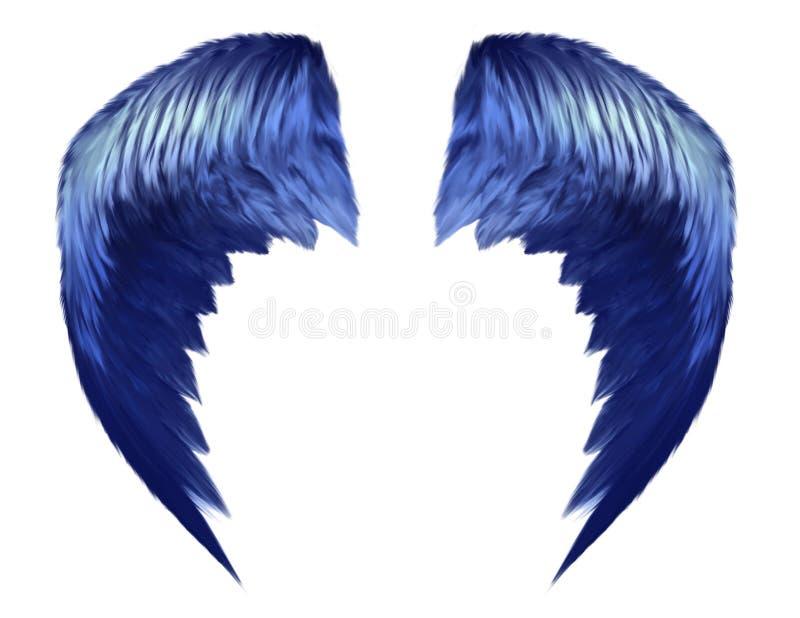 błękitny nadziemscy skrzydła ilustracja wektor