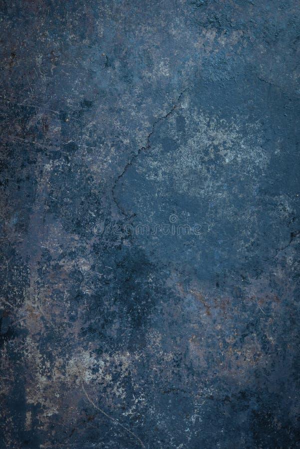 Błękitny Nieociosany metalu tło zdjęcie royalty free