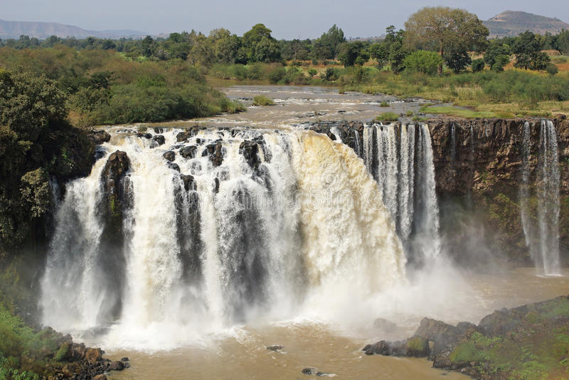 Błękitny Nil spada, Bahar Dar, Etiopia zdjęcia royalty free