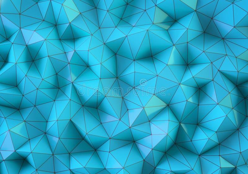 Błękitny niski poli- tło obraz royalty free