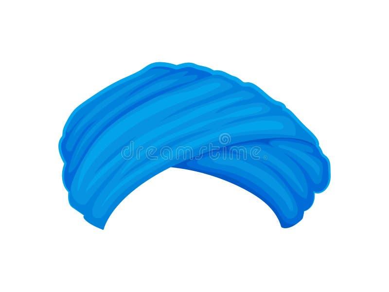 Błękitny niski turban t?a ilustracyjny rekinu wektoru biel ilustracja wektor