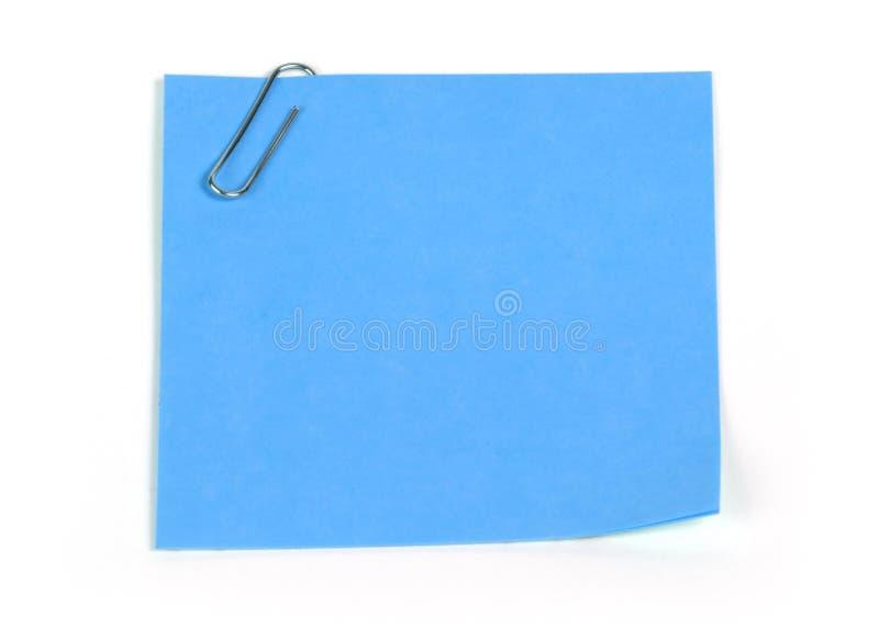 błękitny notatki przypomnienie fotografia royalty free