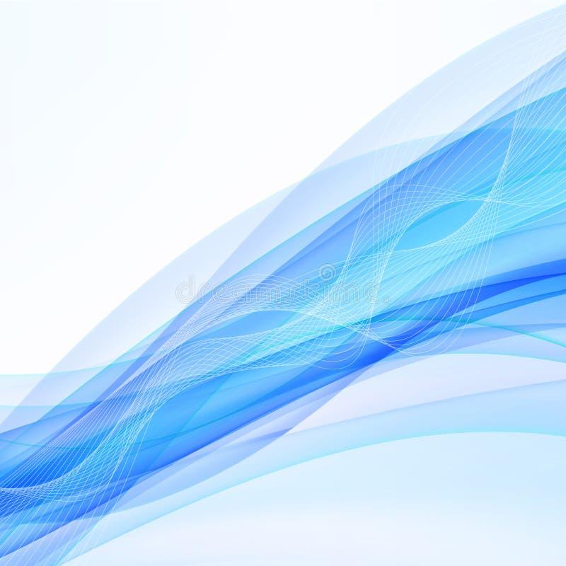 Błękitny nowożytny abstrakt wykłada swoosh świadectwo Wektorowy illustrati ilustracji