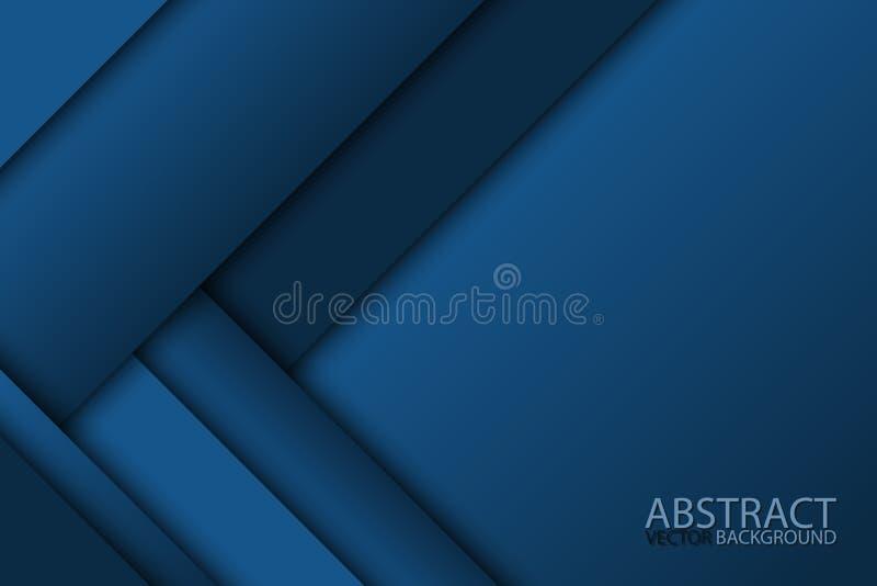 Błękitny nowożytny materialny projekt, wektorowy abstrakcjonistyczny tło royalty ilustracja