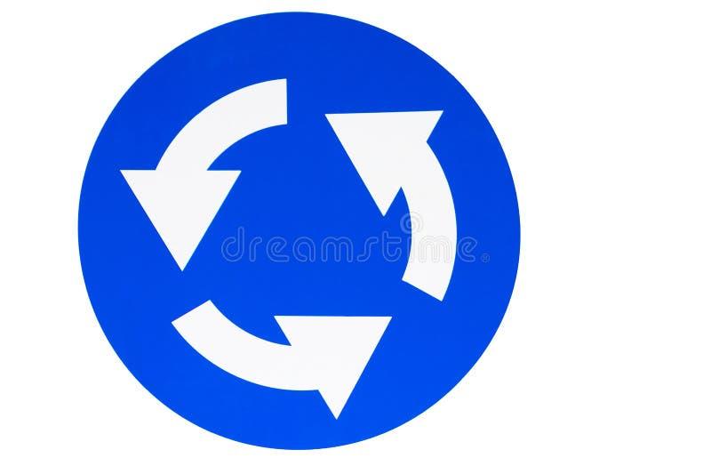 Błękitny obwodnica znak na białym tle obraz stock
