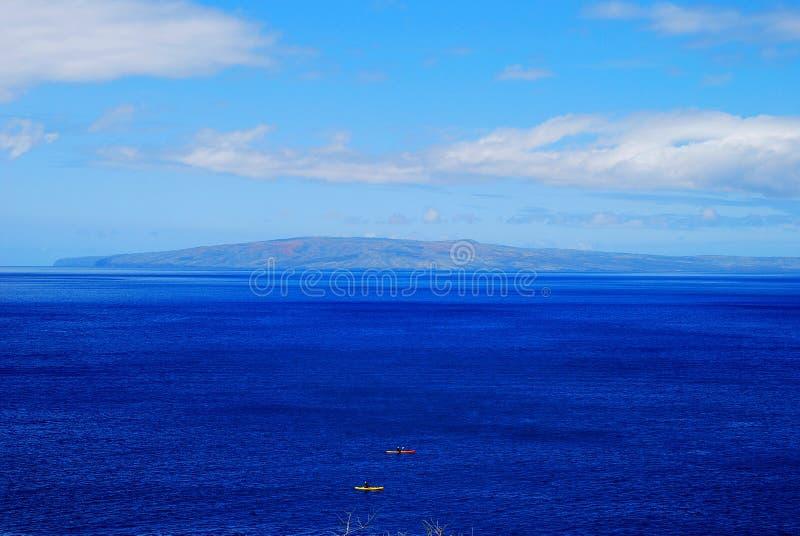 Błękitny ocean Maui, Hawaje obraz stock
