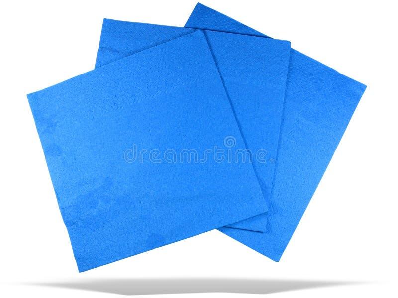 błękitny odosobniony pieluch papieru cień trzy fotografia stock