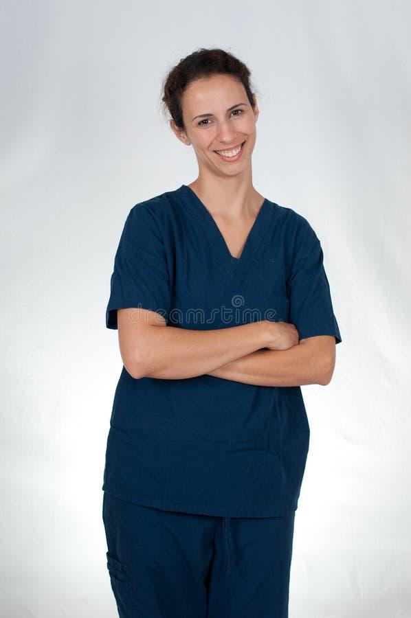 błękitny opieki zdrowotnej profesjonalisty pętaczki zdjęcia royalty free