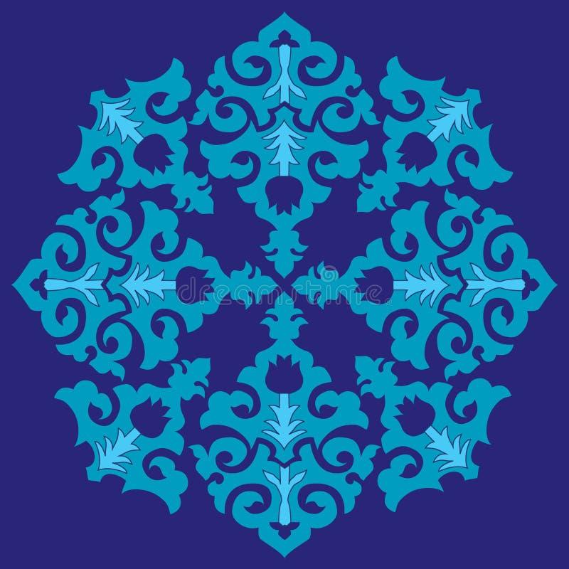 Błękitny ottoman serial deseniuje dwadzieścia sześć ilustracja wektor