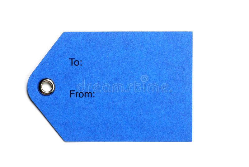 błękitny papieru etykietki zdjęcia stock