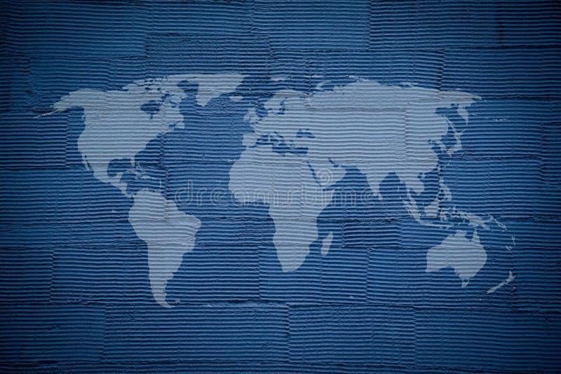 Błękitny pasiasty ścienny tekstury tło ilustracji