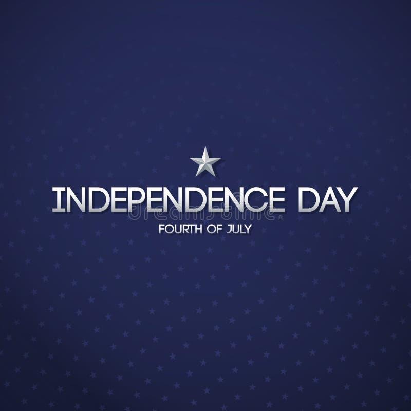 Błękitny patriotyczny tło dla dnia niepodległości ilustracja wektor