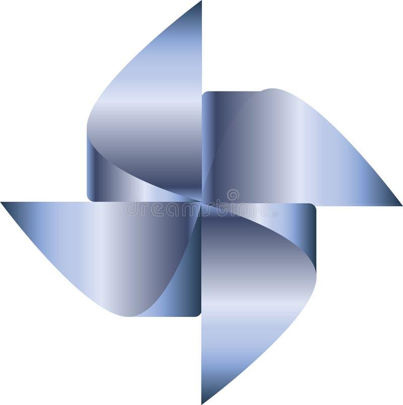 Błękitny pinwheel wektor ilustracja wektor