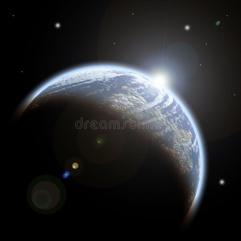 błękitny planeta ilustracja wektor