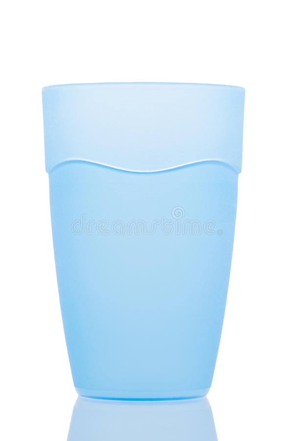 Błękitny plastikowy szkło fotografia royalty free