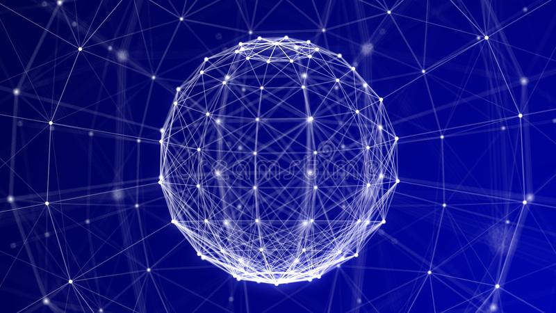 Błękitny Plexus sfery ramy technologii tło ilustracji