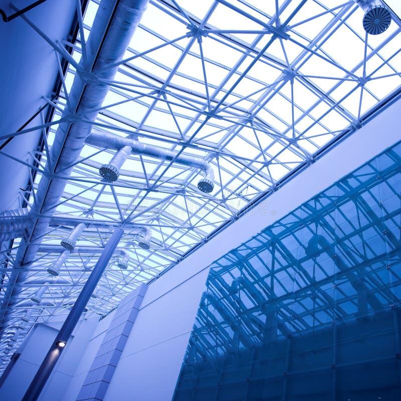 błękitny podsufitowy szklany biuro fotografia royalty free