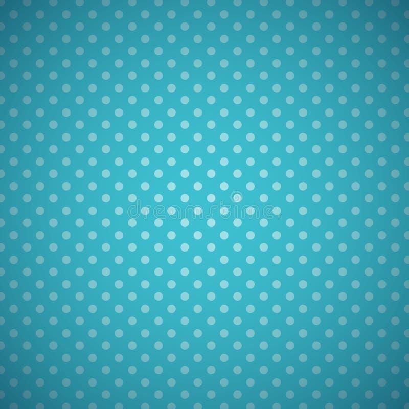 Błękitny polek kropek nieba tło royalty ilustracja