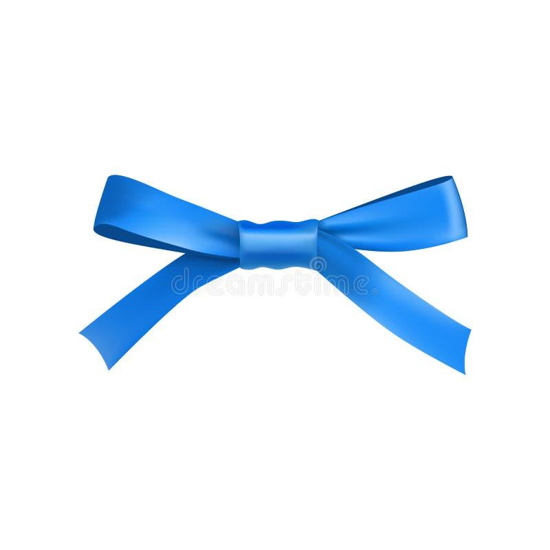 Błękitny prezenta łęk od atłas cienkiej taśmy royalty ilustracja