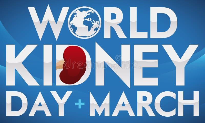 Błękitny projekt z Srebnymi tekstami Upamiętniać Światowego cynaderki dzień, Wektorowa ilustracja ilustracja wektor