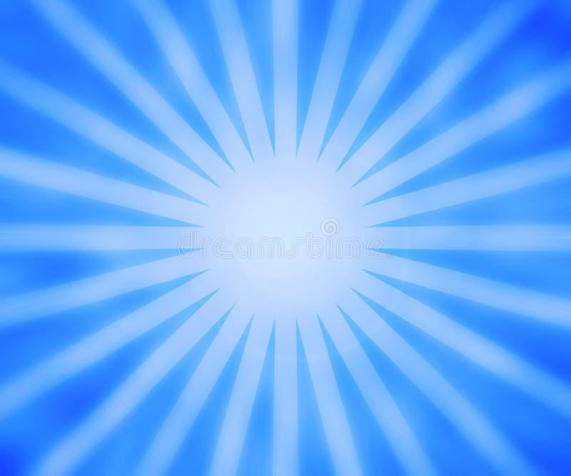 Błękitny promienia tło ilustracji