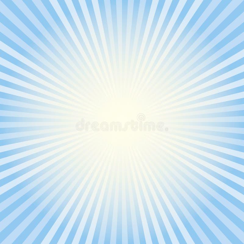 błękitny promienie ilustracja wektor