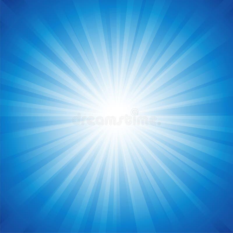 Błękitny promieniowania tło ilustracja wektor