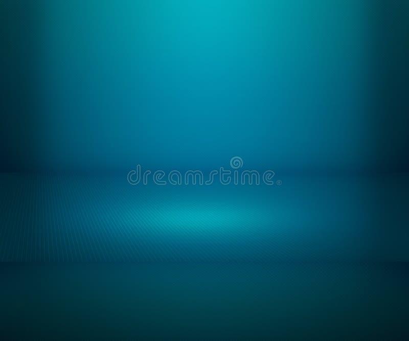 Błękitny Prosty światło reflektorów sceny tło ilustracji