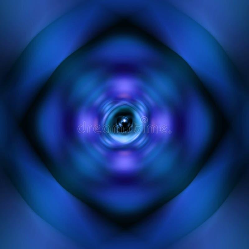 Błękitny przędzalniany atomu tło royalty ilustracja