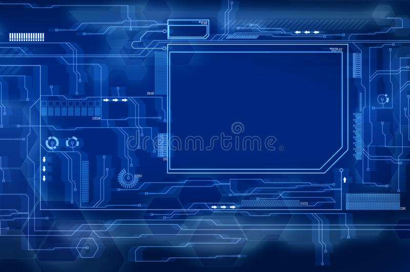 błękitny przyszłościowy interfejs ilustracja wektor