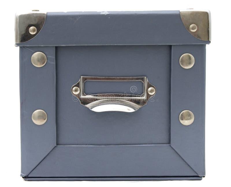 błękitny pudełka karty przód obrazy royalty free